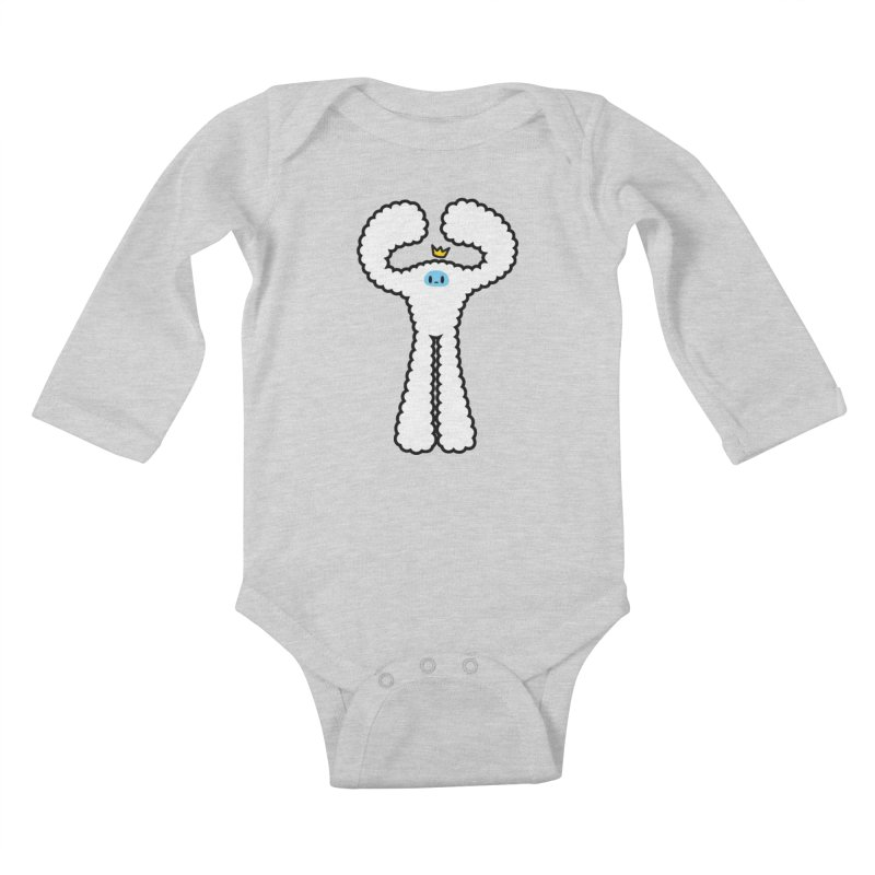 mighty white yeti Kids Baby Longsleeve Bodysuit by Ziqi - Monster Little