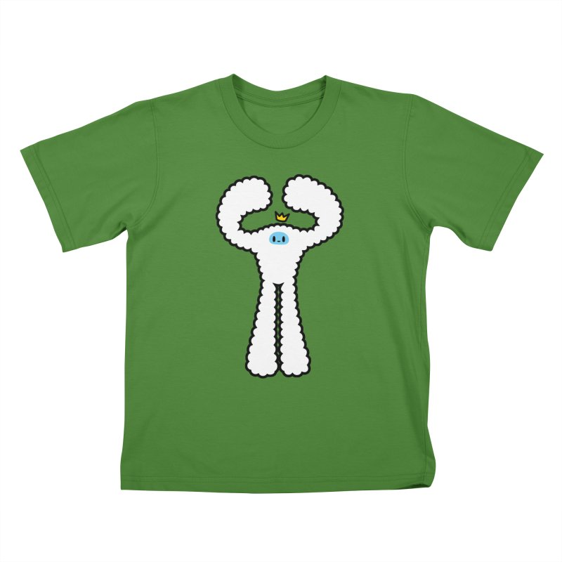 mighty white yeti Kids T-shirt by Ziqi - Monster Little