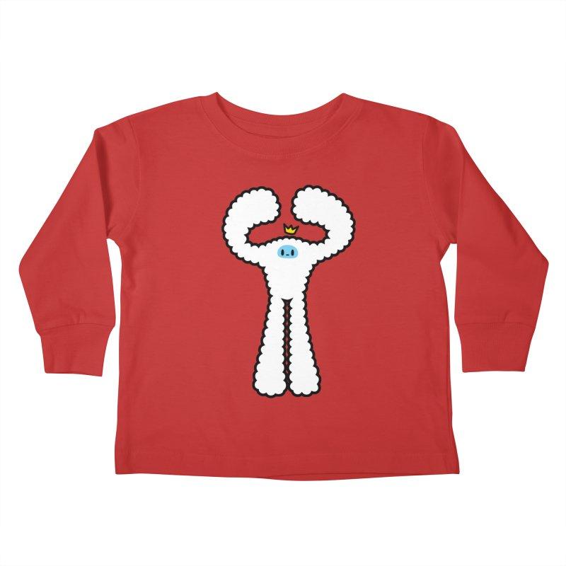 mighty white yeti Kids Toddler Longsleeve T-Shirt by Ziqi - Monster Little