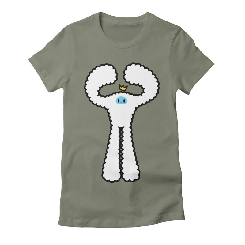 mighty white yeti Women's Fitted T-Shirt by Ziqi - Monster Little