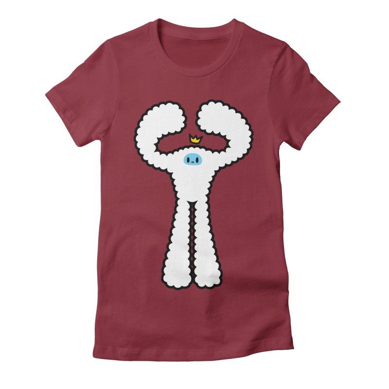 mighty white yeti Women's T-Shirt by Ziqi - Monster Little
