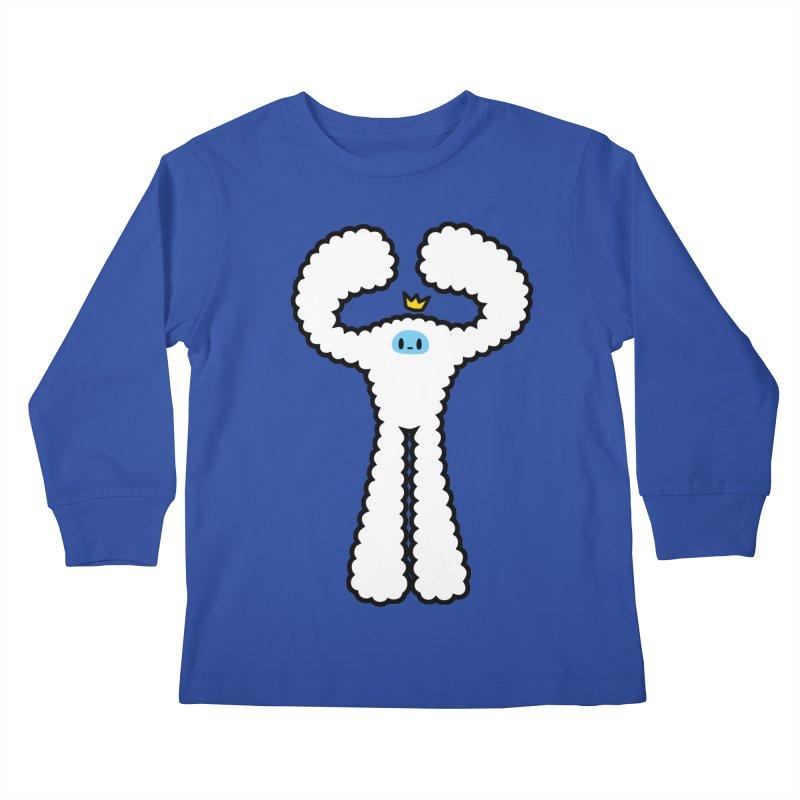 mighty white yeti Kids Longsleeve T-Shirt by Ziqi - Monster Little