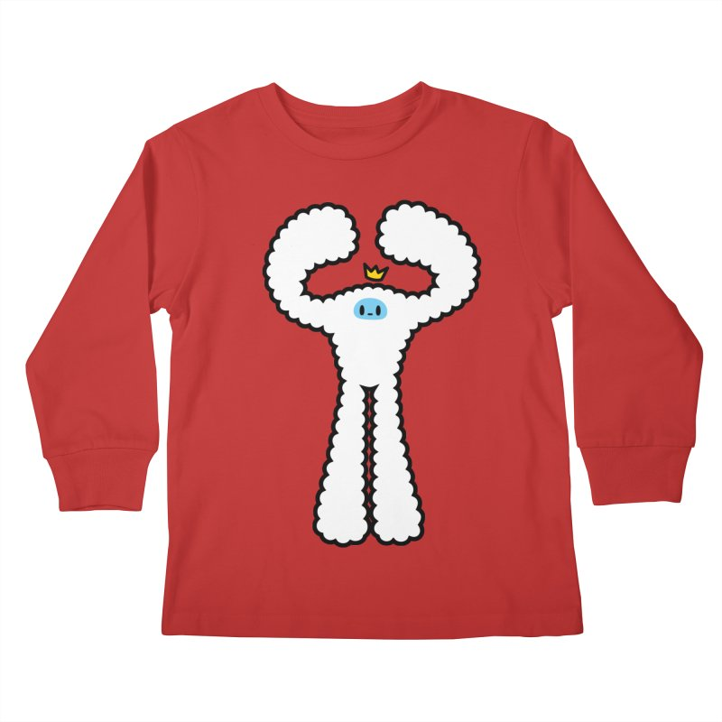 mighty white yeti Kids Longsleeve T-Shirt by Ziqi - Monster Little