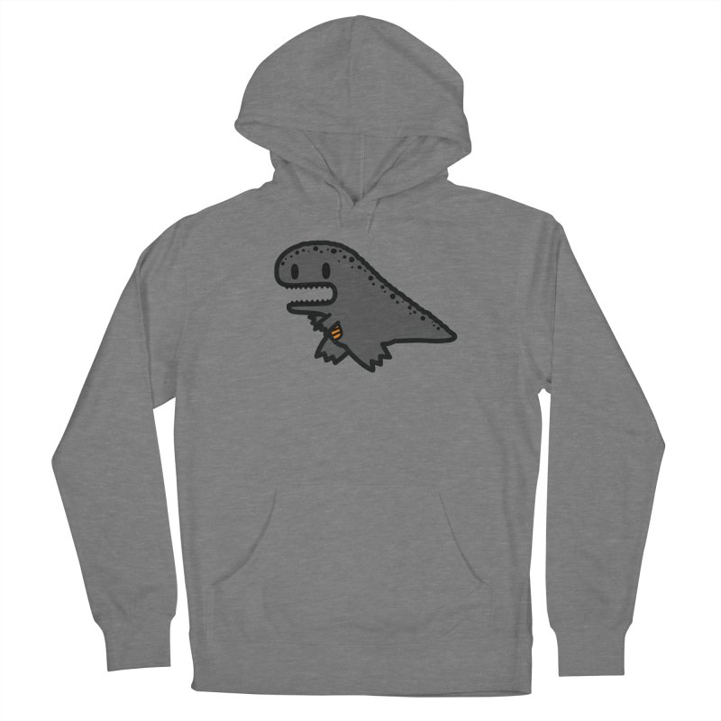 little t-rex dino Men's French Terry Pullover Hoody by Ziqi - Monster Little