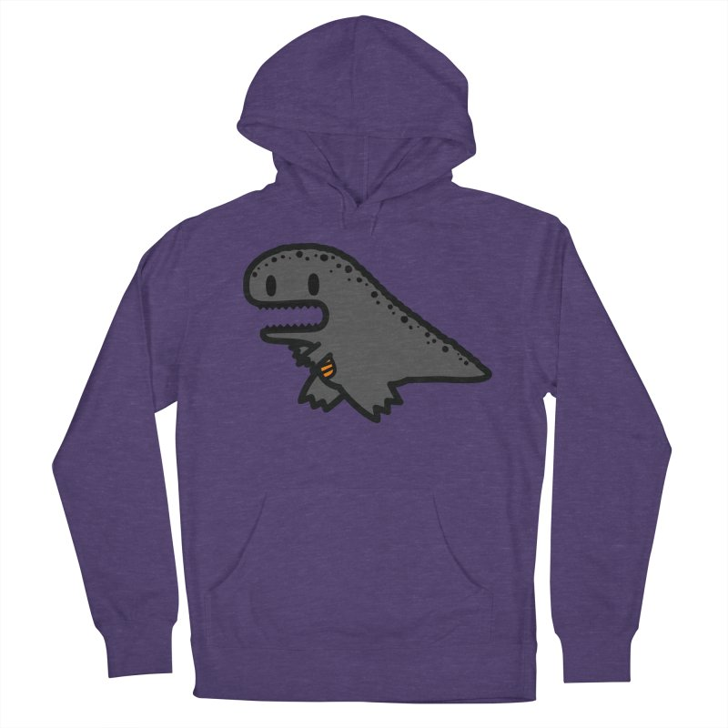 little t-rex dino Women's French Terry Pullover Hoody by Ziqi - Monster Little