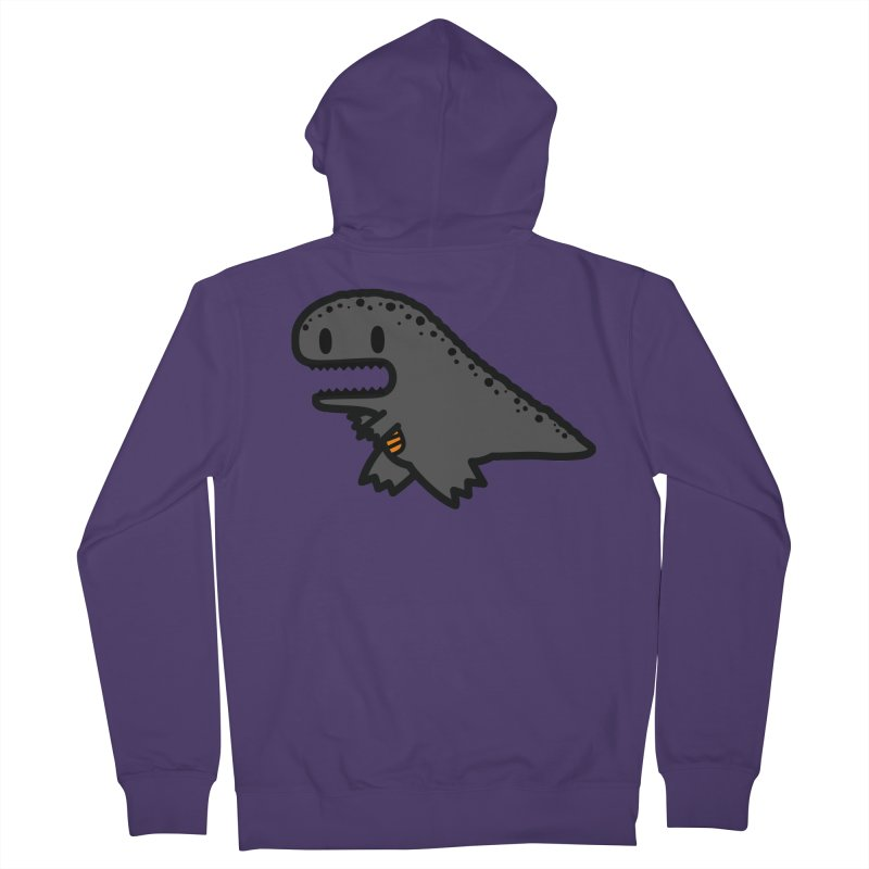 little t-rex dino Women's French Terry Zip-Up Hoody by Ziqi - Monster Little