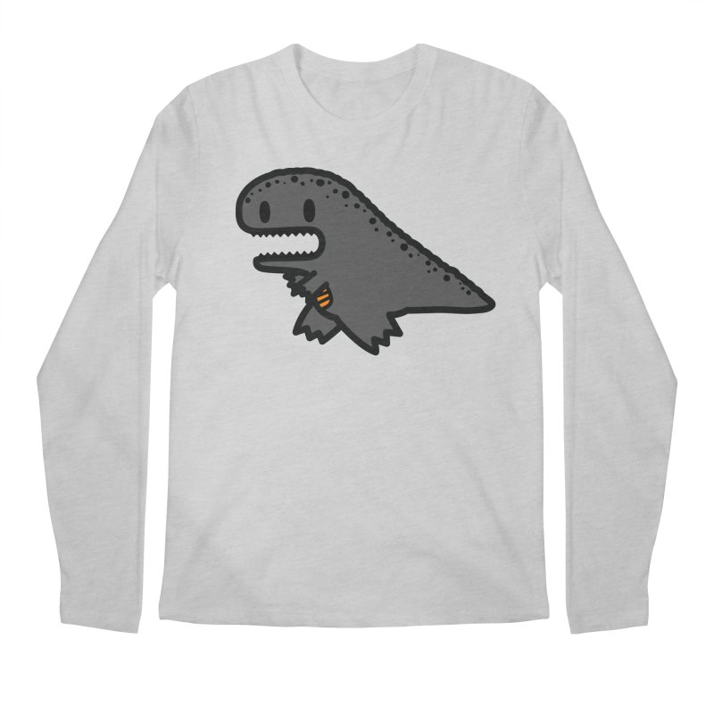 little t-rex dino Men's Regular Longsleeve T-Shirt by Ziqi - Monster Little