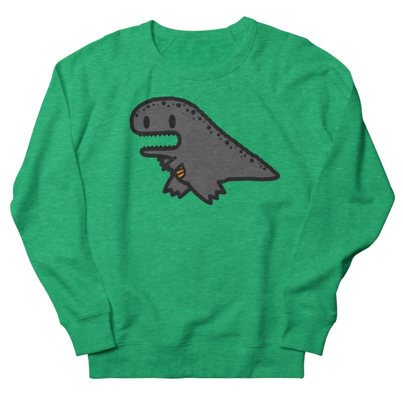 little t-rex dino Women's French Terry Sweatshirt by Ziqi - Monster Little
