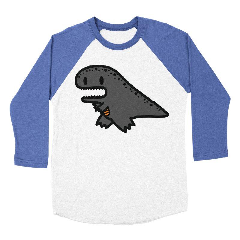 little t-rex dino Women's Baseball Triblend Longsleeve T-Shirt by Ziqi - Monster Little