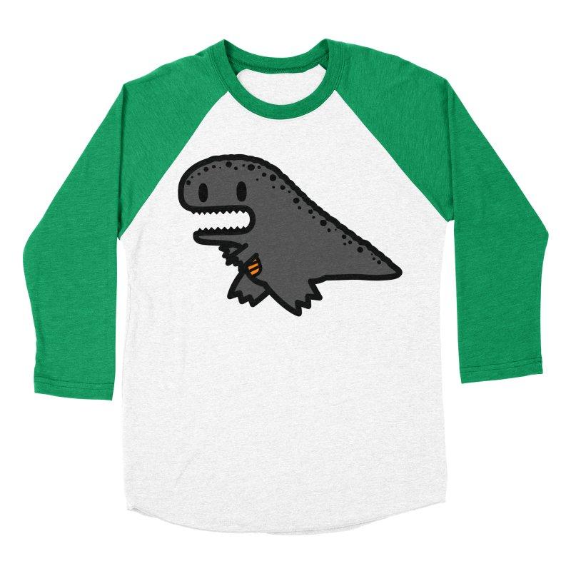 little t-rex dino Women's Baseball Triblend T-Shirt by Ziqi - Monster Little