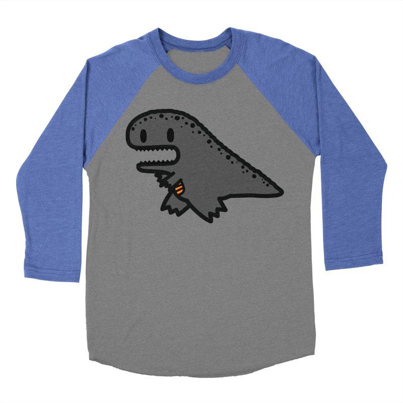 little t-rex dino Men's Baseball Triblend Longsleeve T-Shirt by Ziqi - Monster Little