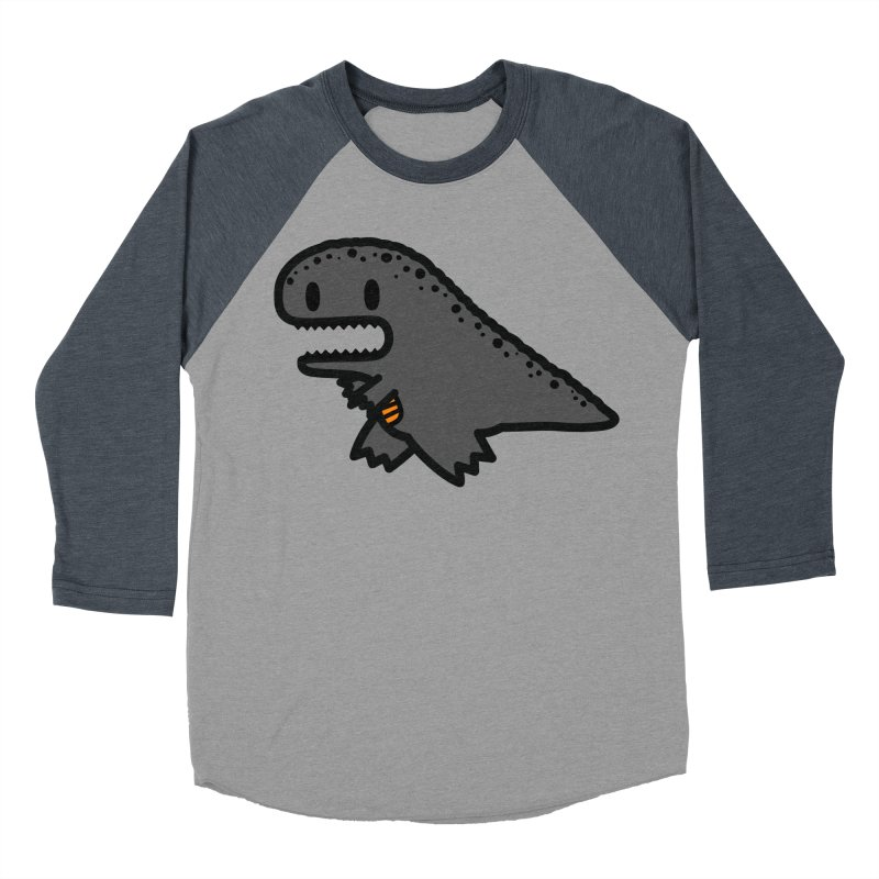 little t-rex dino Men's Baseball Triblend T-Shirt by Ziqi - Monster Little