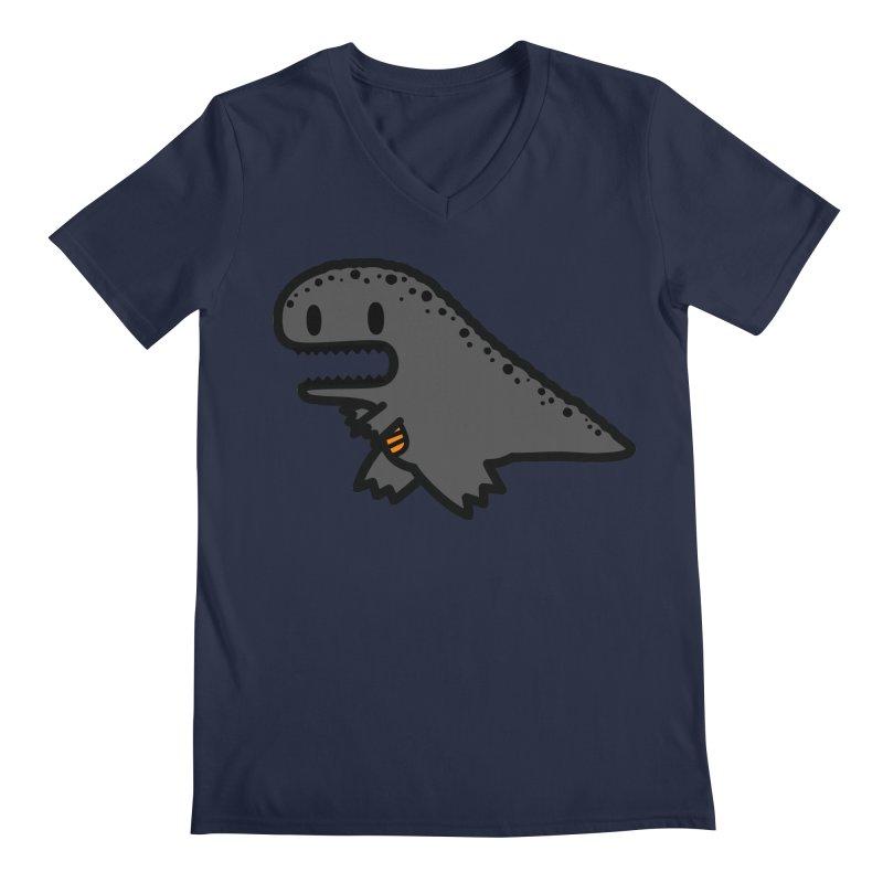 little t-rex dino Men's V-Neck by Ziqi - Monster Little