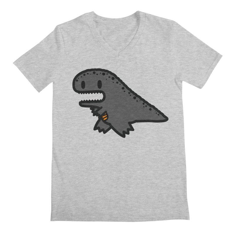 little t-rex dino Men's Regular V-Neck by Ziqi - Monster Little