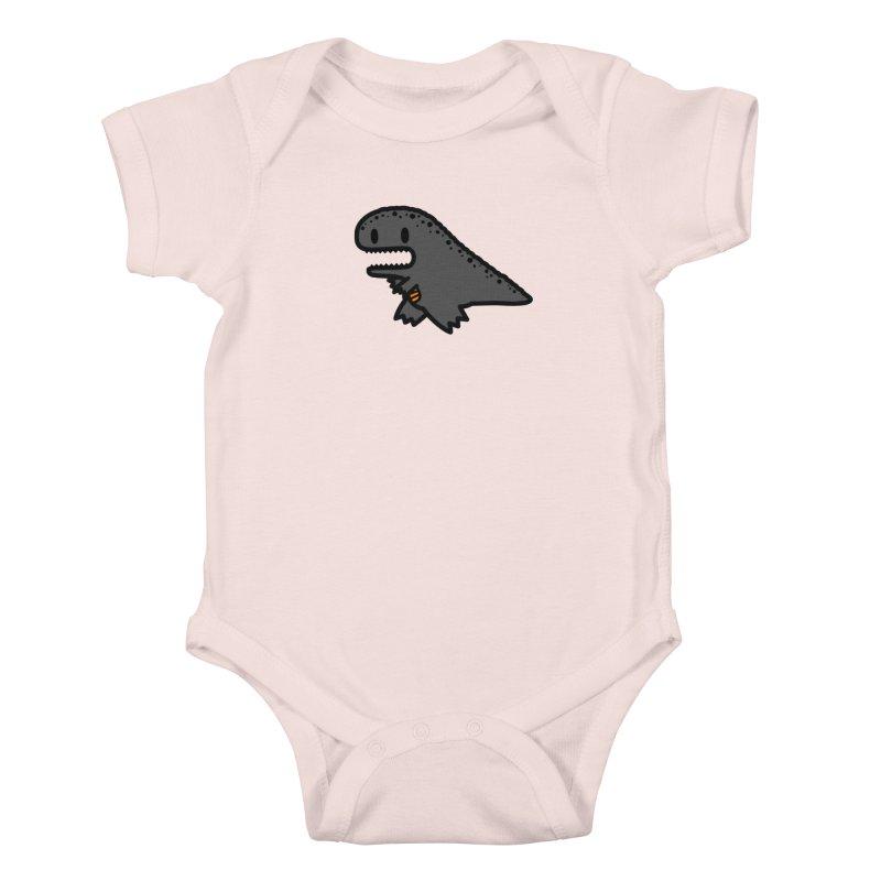 little t-rex dino Kids Baby Bodysuit by Ziqi - Monster Little