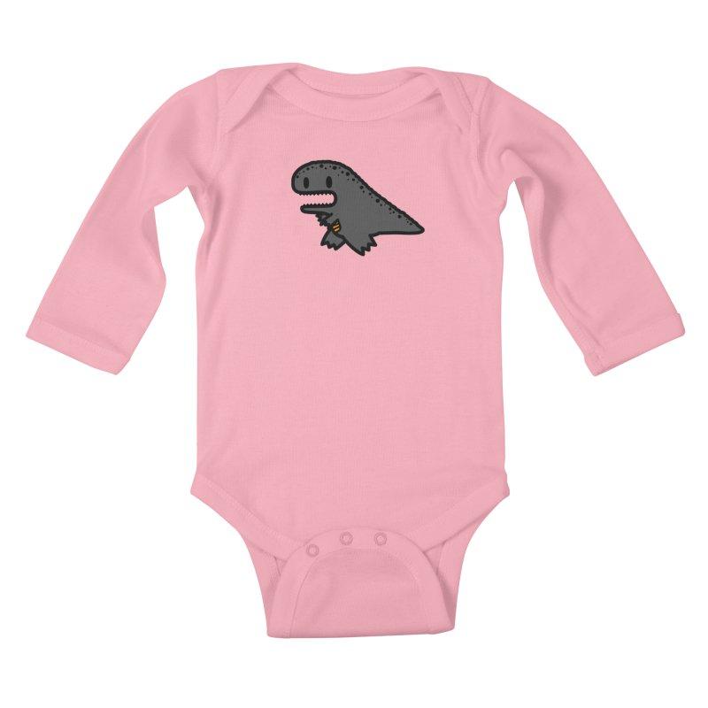 little t-rex dino Kids Baby Longsleeve Bodysuit by Ziqi - Monster Little