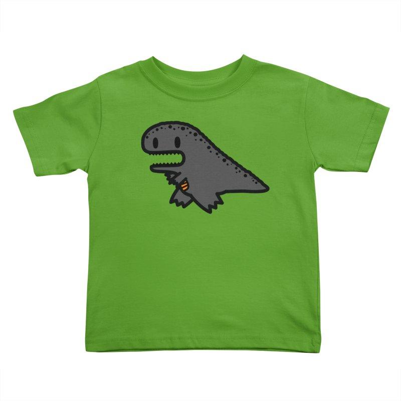little t-rex dino Kids Toddler T-Shirt by Ziqi - Monster Little