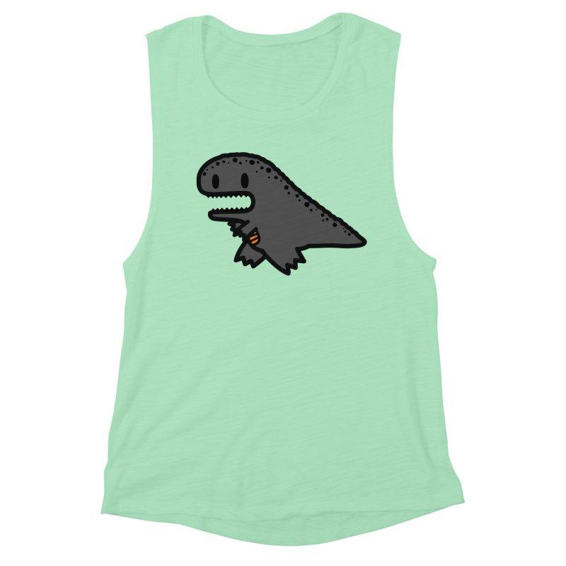 little t-rex dino Women's Muscle Tank by Ziqi - Monster Little