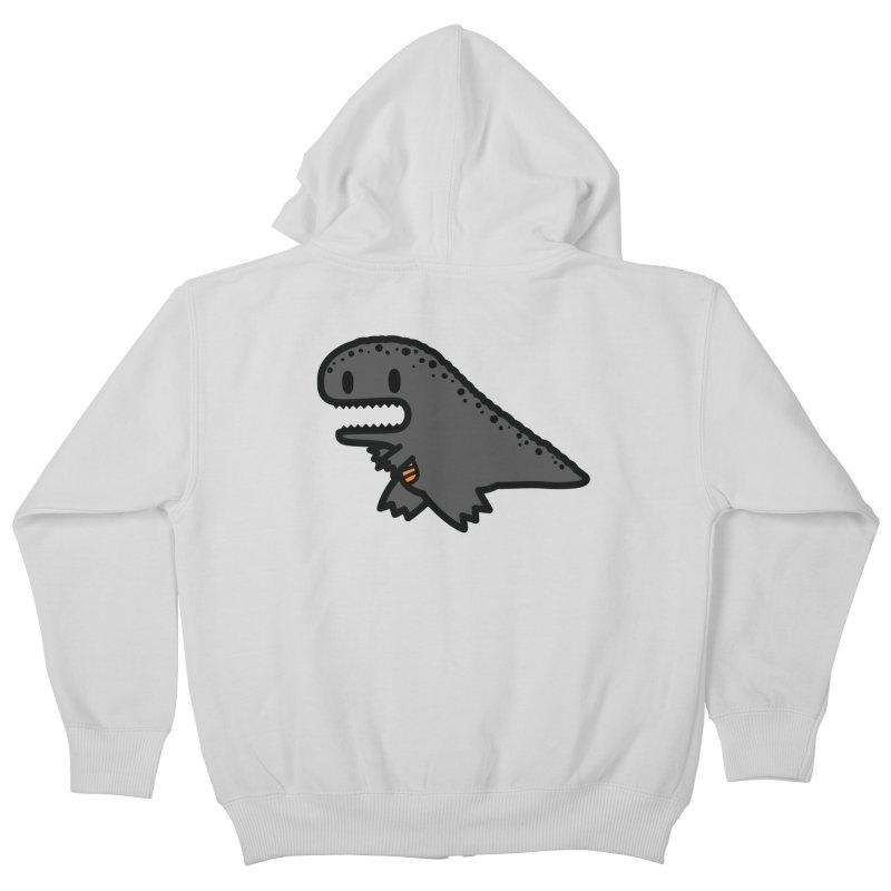 little t-rex dino Kids Zip-Up Hoody by Ziqi - Monster Little
