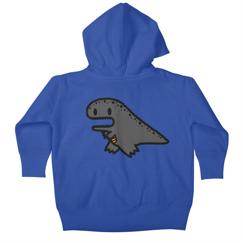 little t-rex dino Kids Baby Zip-Up Hoody by Ziqi - Monster Little