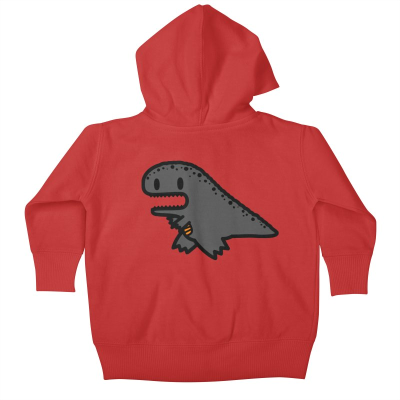 little t-rex dino Kids Baby Zip-Up Hoody by Ziqi - Monster Little