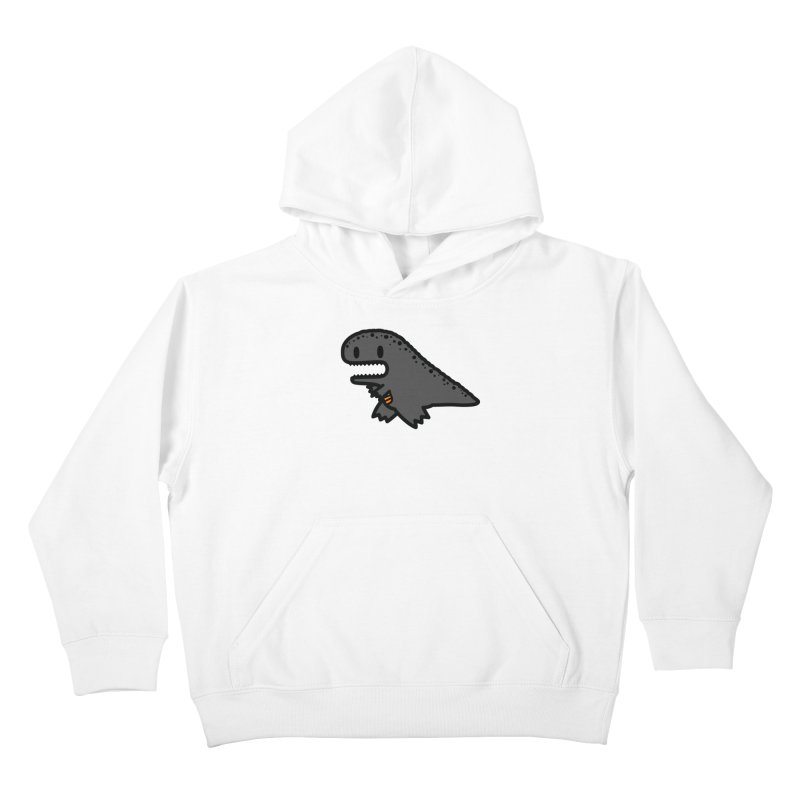 little t-rex dino Kids Pullover Hoody by Ziqi - Monster Little