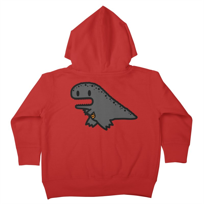 little t-rex dino Kids Toddler Zip-Up Hoody by Ziqi - Monster Little