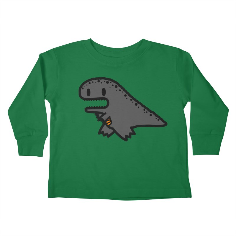 little t-rex dino Kids Toddler Longsleeve T-Shirt by Ziqi - Monster Little