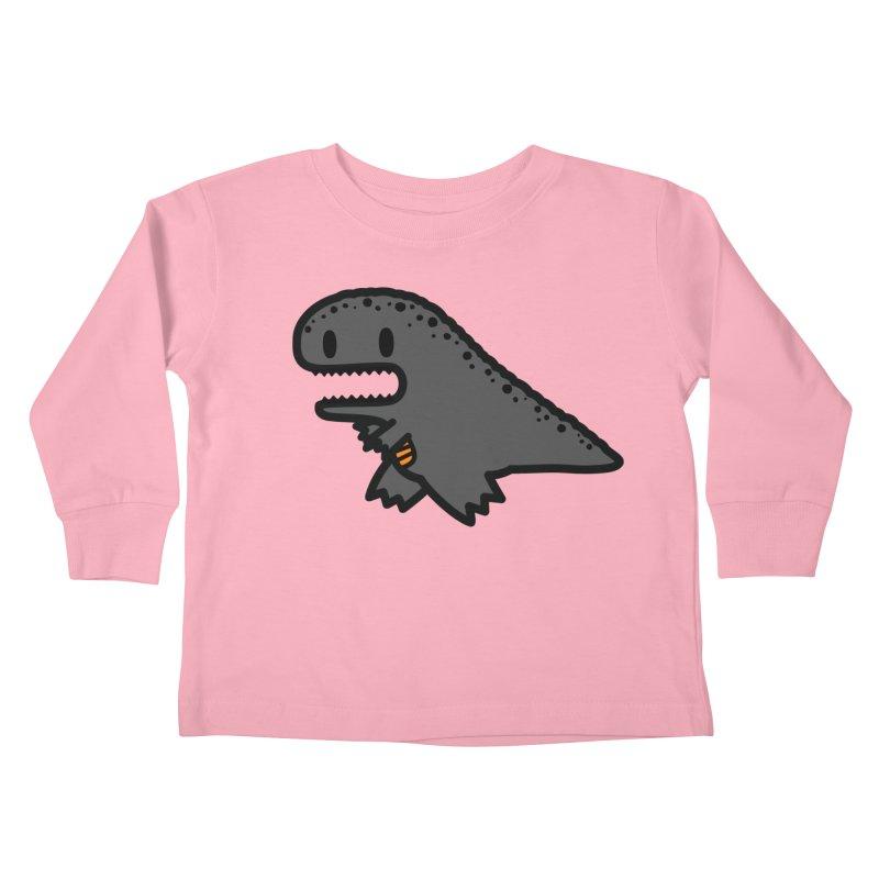 little t-rex dino Kids Toddler Longsleeve T-Shirt by Ziqi - Monster Little
