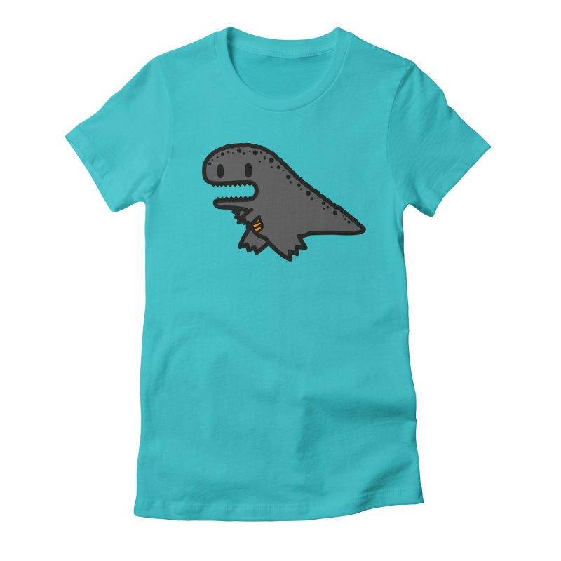 little t-rex dino Women's Fitted T-Shirt by Ziqi - Monster Little