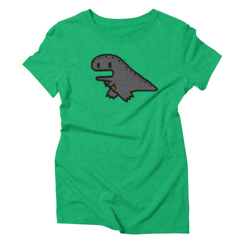 little t-rex dino Women's Triblend T-Shirt by Ziqi - Monster Little