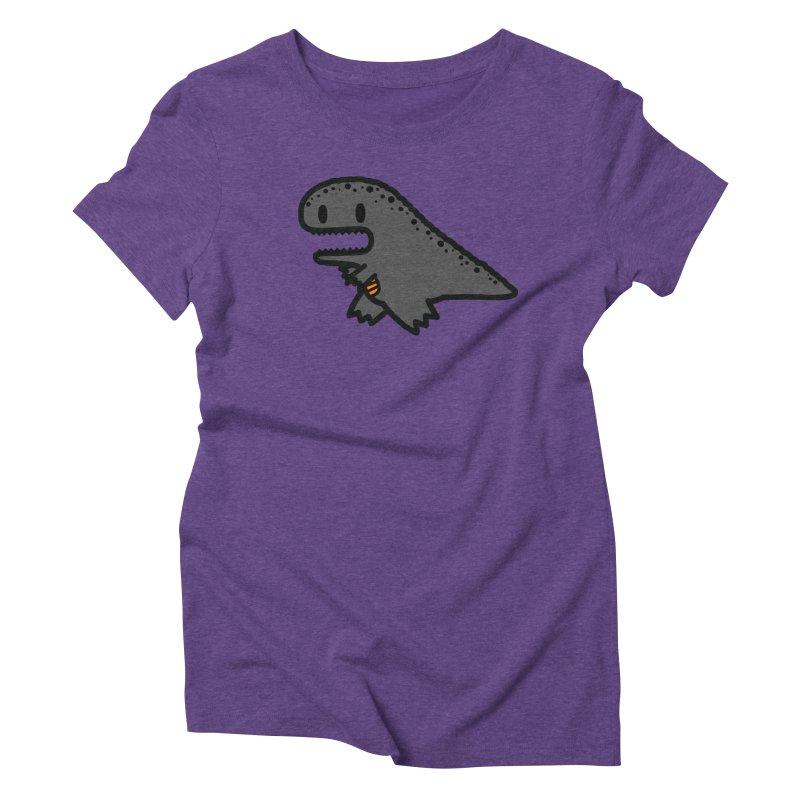 little t-rex dino Women's Triblend T-Shirt by Ziqi - Monster Little