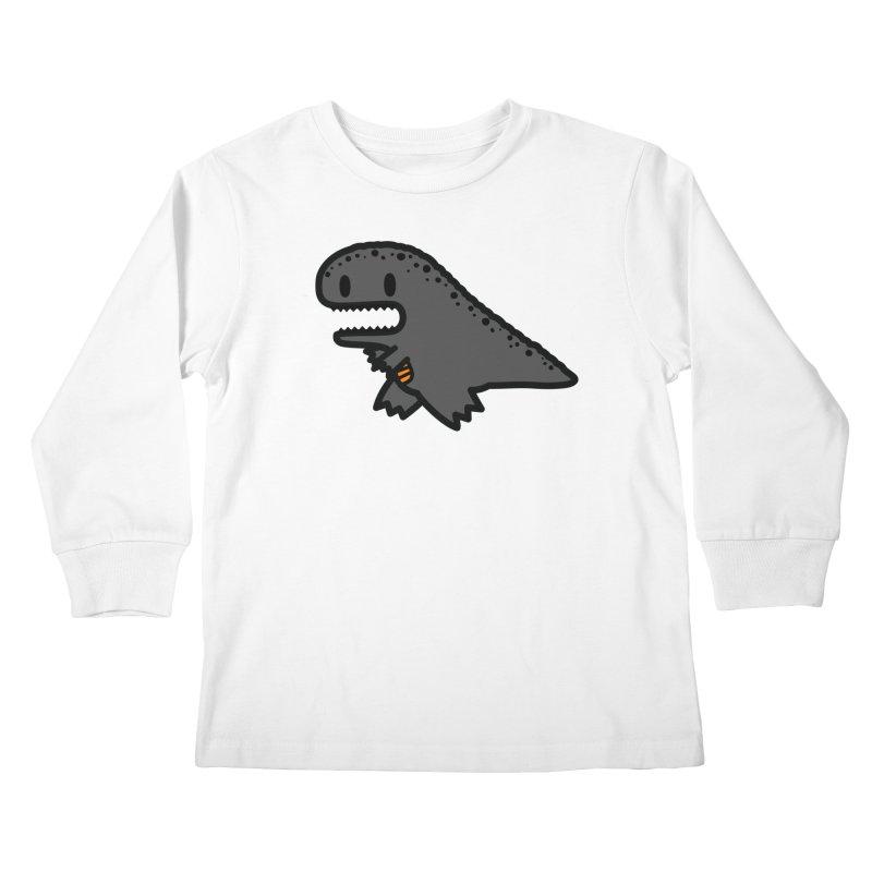 little t-rex dino Kids Longsleeve T-Shirt by Ziqi - Monster Little
