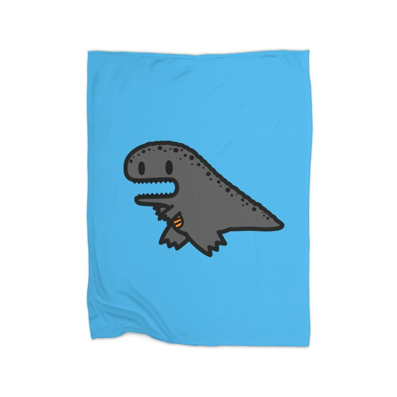 little t-rex dino Home Fleece Blanket Blanket by Ziqi - Monster Little