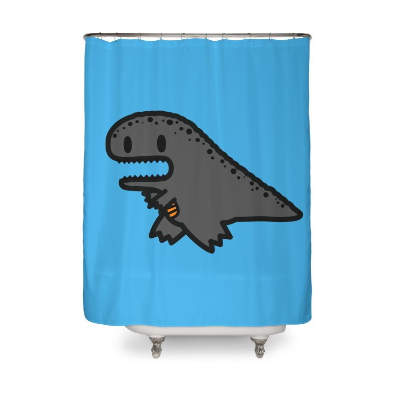 little t-rex dino Home Shower Curtain by Ziqi - Monster Little