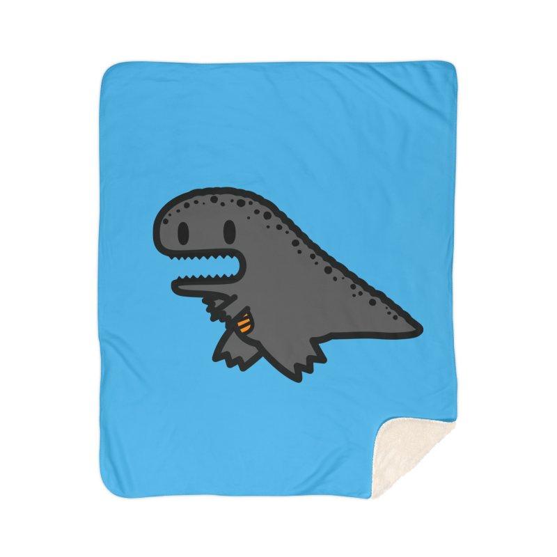 little t-rex dino Home Sherpa Blanket Blanket by Ziqi - Monster Little