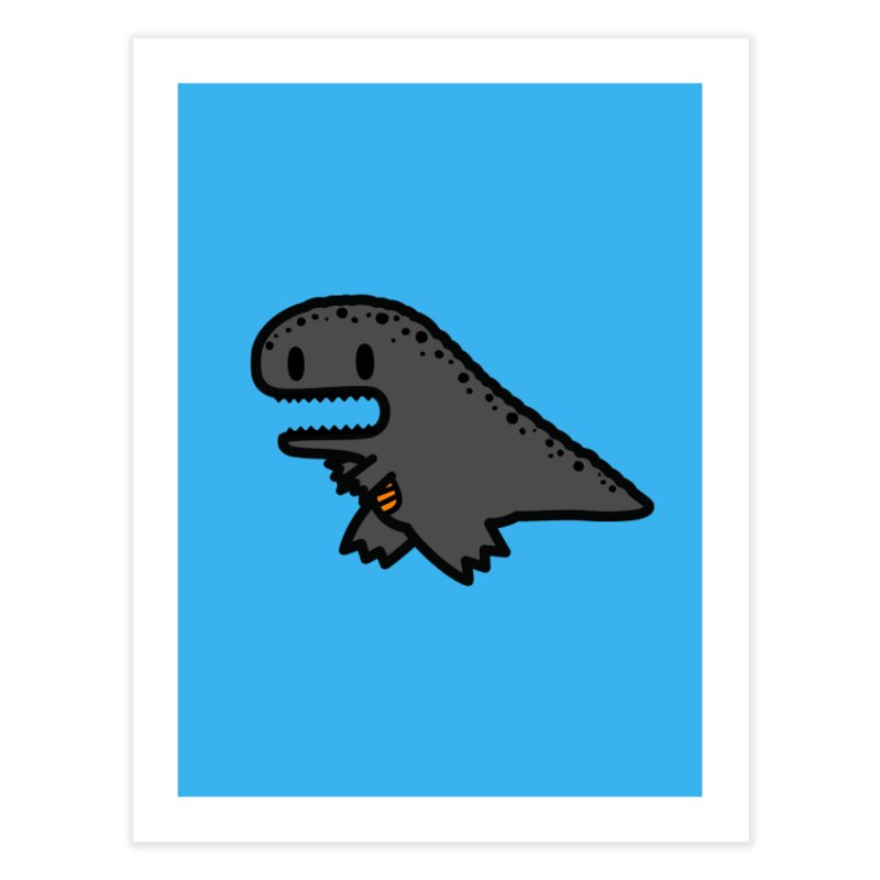 little t-rex dino Home Fine Art Print by Ziqi - Monster Little