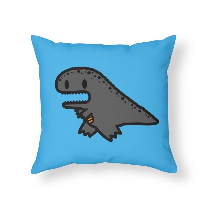 little t-rex dino Home Throw Pillow by Ziqi - Monster Little