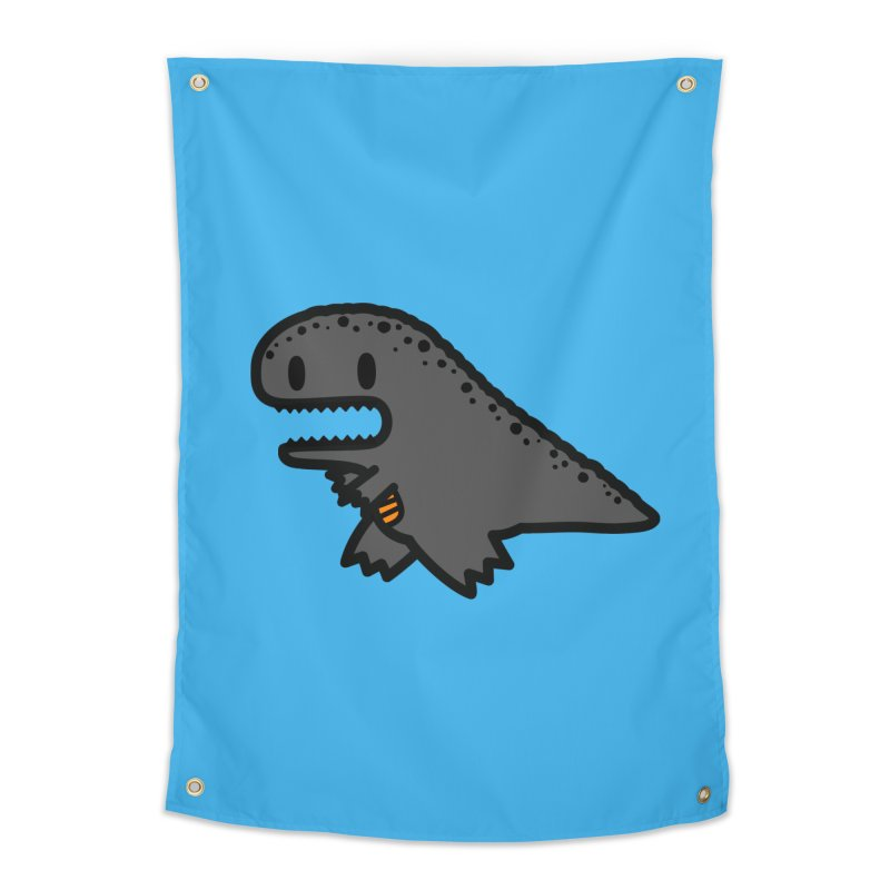 little t-rex dino Home Tapestry by Ziqi - Monster Little