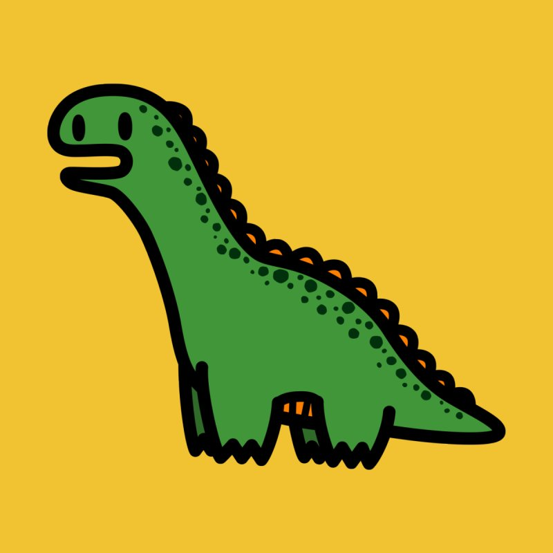 little green diplodocus dino None  by Ziqi - Monster Little