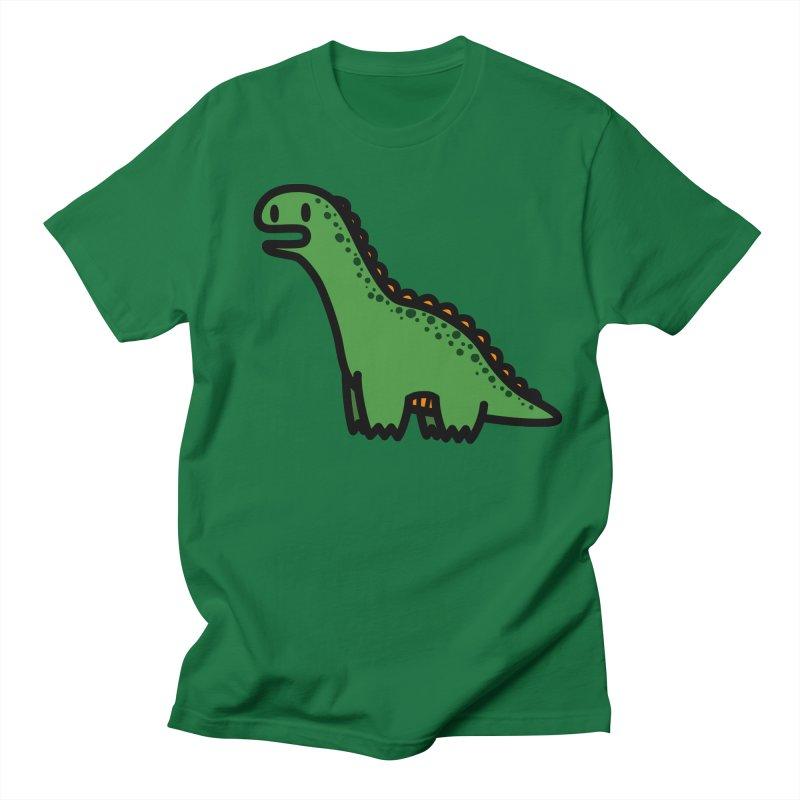 little green diplodocus dino Men's T-Shirt by Ziqi - Monster Little
