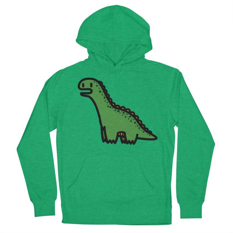 little green diplodocus dino Women's Pullover Hoody by Ziqi - Monster Little