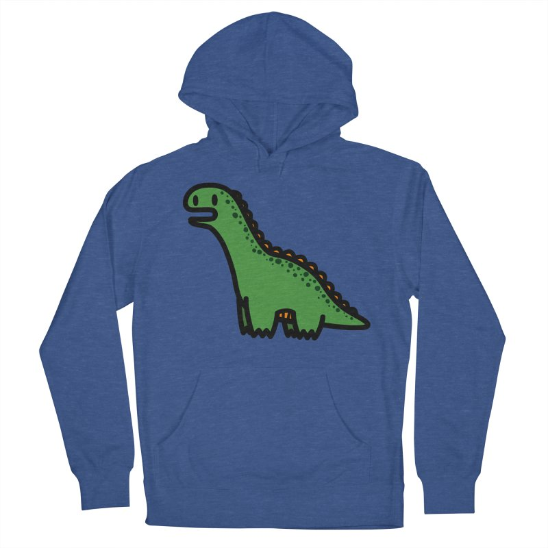 little green diplodocus dino Women's French Terry Pullover Hoody by Ziqi - Monster Little