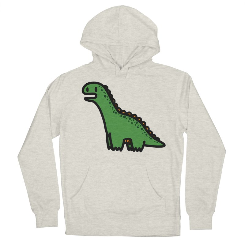 little green diplodocus dino Women's Pullover Hoody by Ziqi - Monster Little