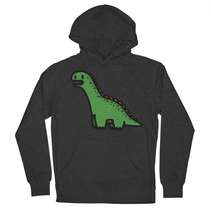 little green diplodocus dino Men's French Terry Pullover Hoody by Ziqi - Monster Little