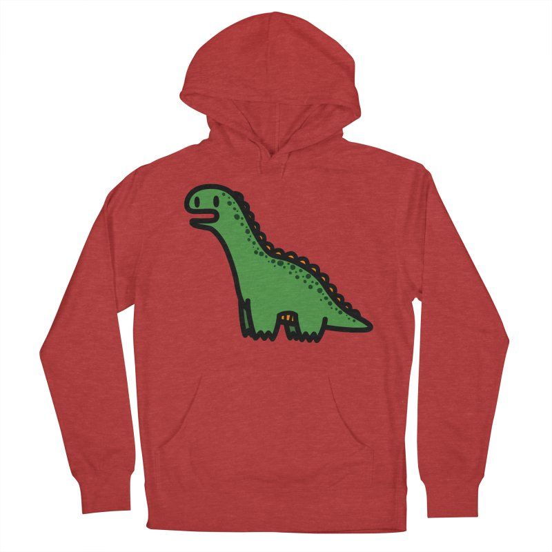 little green diplodocus dino Men's Pullover Hoody by Ziqi - Monster Little