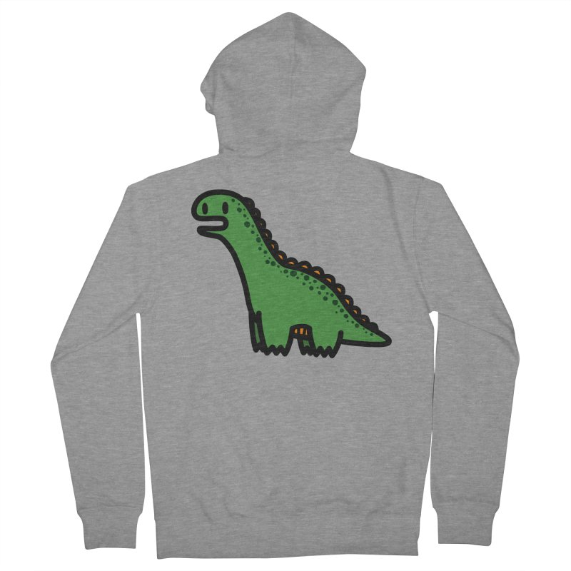 little green diplodocus dino Women's Zip-Up Hoody by Ziqi - Monster Little