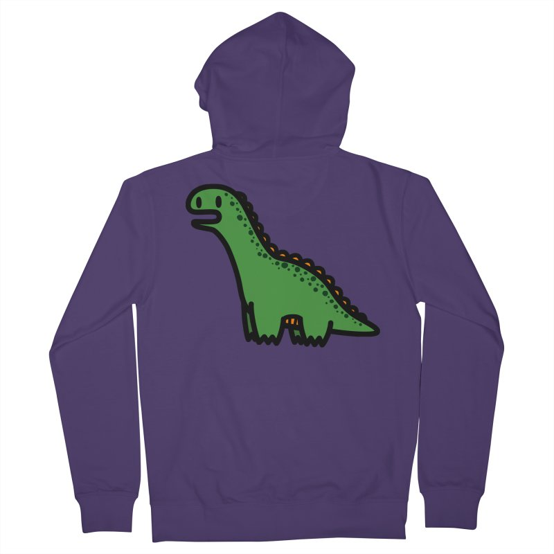 little green diplodocus dino Women's Zip-Up Hoody by Ziqi - Monster Little