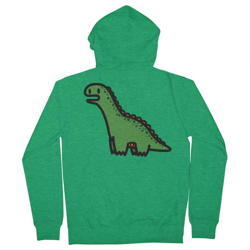 little green diplodocus dino Men's Zip-Up Hoody by Ziqi - Monster Little