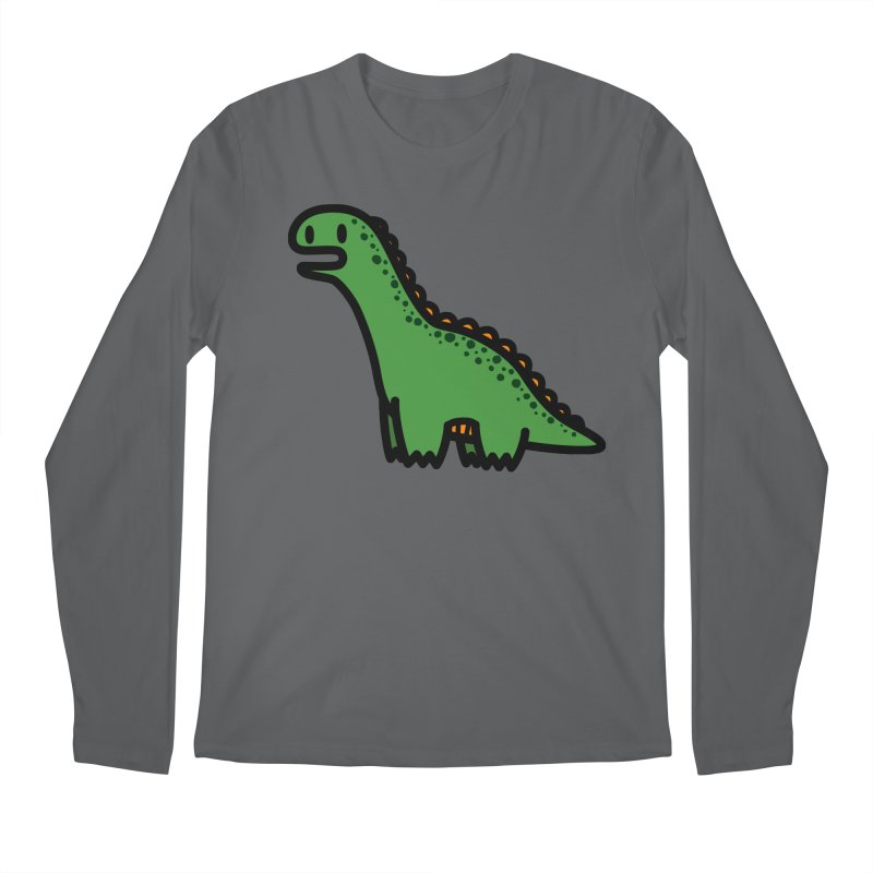 little green diplodocus dino Men's Longsleeve T-Shirt by Ziqi - Monster Little